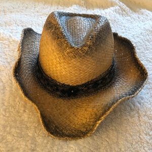 Accessories - Cowgirl hat with black lace and gems!